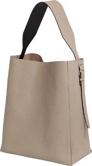 Valextra , Medium Leather Hobo Bag