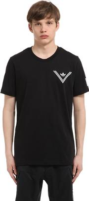 Adidas Originals By White Mountaineering , Printed Cotton Blend T Shirt