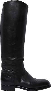 Alberto Fasciani , 20mm Embossed Leather Riding Boots