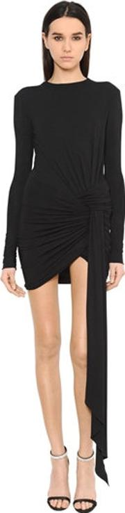 Alexandre Vauthier , Draped Stretch Jersey Mini Dress