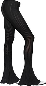Alyx , Flared Ribbed Cotton Stretch Knit Pants