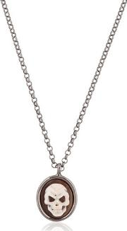 Amedeo , Skull Cameo Necklace