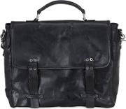 As98 , Vintage Effect Leather Briefcase