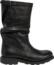 Bikkembergs , 20mm Mid Dyed Leather Boots