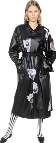 Claire Barrow , Printed Nappa Leather Trench Coat