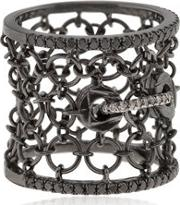 Colette Jewelry , Entwined Mesh Corset Ring For Lvr