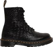 Drmartens , 30mm Pascal Embossed Croc Leather Boots