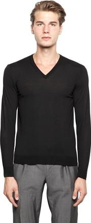 Drumohr , Extra Fine Merino Wool V Neck Sweater