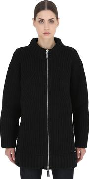 Dsquared2 , Zip Up Wool Knit Cardigan