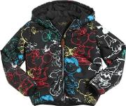 Finger In The Nose , Snoopy Printed Nylon Padded Jacket