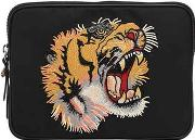 Gucci , Tiger Patch Techno Canvas Tablet Holder
