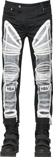 Hba Hood By Air , 16.5cm Astronaut Printed Denim Jeans
