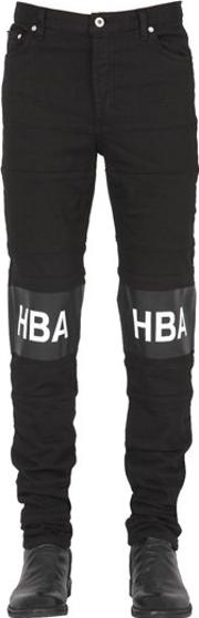 Hba Hood By Air , 16.5cm Hockey Stripe Cotton Denim Jeans