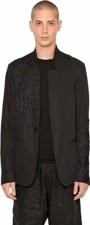Isabel Benenato , Deconstructed Embroidered Twill Jacket