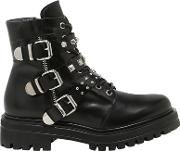 Janet&janet , 30mm Buckled Leather Ankle Boots