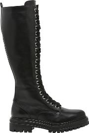 Janet&janet , 30mm Leather Lace Up Boots