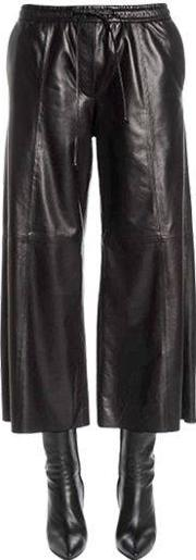 Juunj , Flared & Cropped Leather Pants