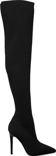 Kendallkylie , 100mm Anabel Knit Over The Knee Boots