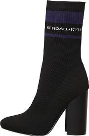 Kendallkylie , 100mm Hailey Logo Knit Sock Ankle Boots