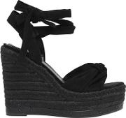 Kendallkylie , 120mm Grayce Suede Lace Up Wedges