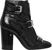Laurence Dacade , 95mm Patou Wrinkled Patent Leather Boots