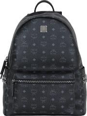 Mcm , Medium Stark Coated Canvas Backpack