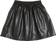 Miss Grant , Laser Cut Faux Leather Skirt