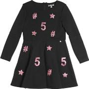 Miss Grant , Milano Jersey Dress W Glitter Patches