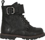 Momino , Drummed Leather Boots