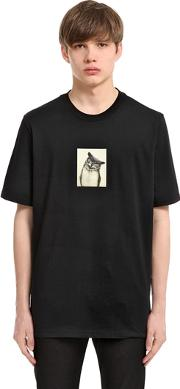 Oamc , Nocturne Printed Cotton Jersey T Shirt