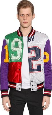 Php , Reversible Patchwork & Leather Jacket