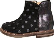 Pom Dapi , Polka Dot Printed Suede Ankle Boots