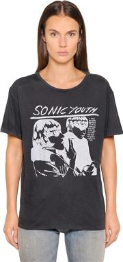 R13 , Sonic Youth Printed Jersey T Shirt