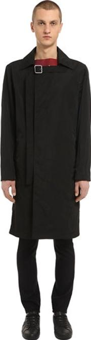 Raf Simons , Nylon Trench Coat With Strap At Collar
