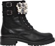 Rene Caovilla , 30mm Swarovski Leather Boots
