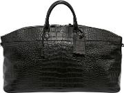 Serapian , Leisure 14 Embossed Leather Duffle Bag