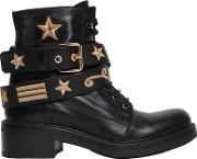 Strategia , 30mm Military Embroidered Leather Boots