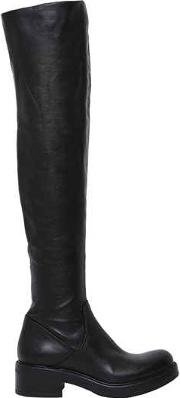 Strategia , 30mm Stretch Leather Over The Knee Boots