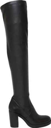 Strategia , 80mm Stretch Faux Leather Boots