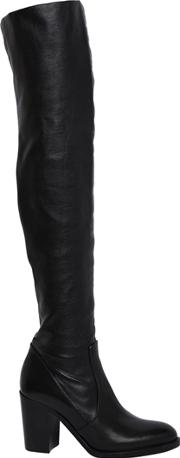Strategia , 80mm Stretch Leather Over The Knee Boots