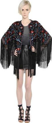 Talitha , Floral Embroidered Silk Georgette Jacket