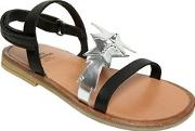 Two Con Me By Pepe , Stars Nappa Leather Sandals