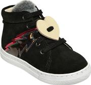 Two Con Me By Pepe , Suede High Top Sneakers Wfaux Fur
