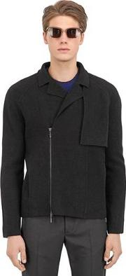 Vasily Razdorskiy , Boiled Wool Biker Jacket