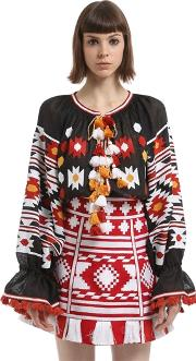 Vita Kin , Kilim Embroidered Linen Blouse