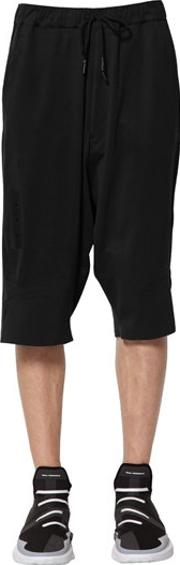 Y3 , Sky Light Cotton Shorts