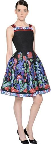 Andrew Gn , Floral Jacquard & Fil Coupe Dress