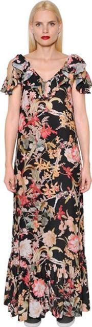 Im Isola Marras , Floral Printed Light Crepe Dress