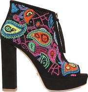 Jerome Crousseau , 110mm Coco Embellished Suede Boots