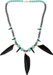 Tina Lilienthal London , Powwow Warrior Feather Necklace